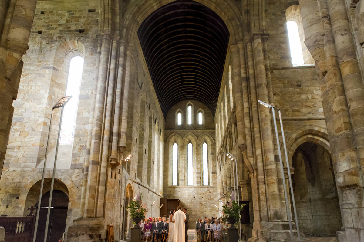 Brinkburn Priory Wedding Photos, by Phil Smith Photography
