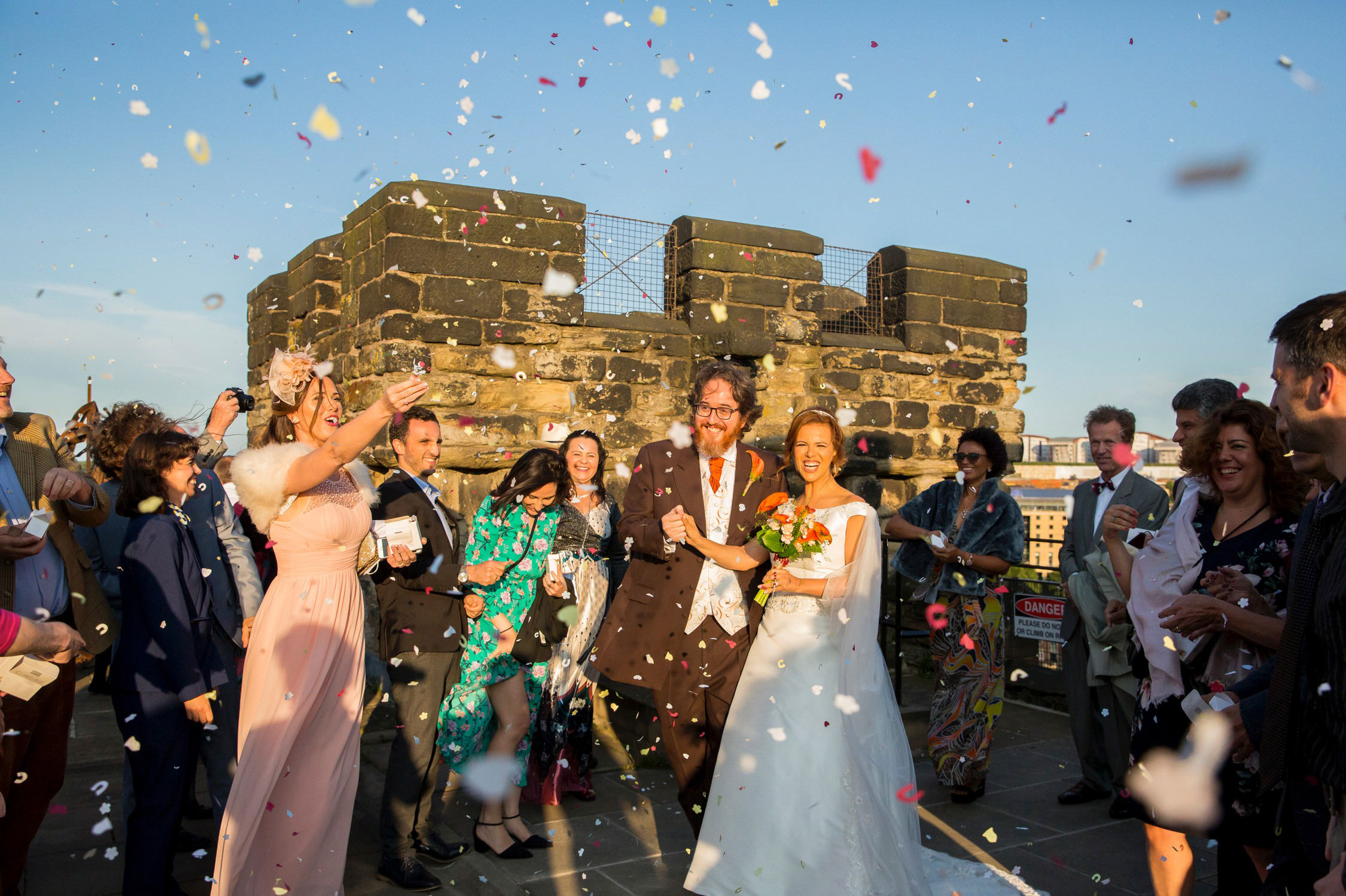 newcastle castle wedding photos